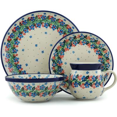 Polish Pottery 10-inch Place Setting | Boleslawiec Stoneware | Polmedia H5336I