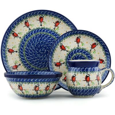 Polish Pottery 10-inch Place Setting | Boleslawiec Stoneware | Polmedia H6009I