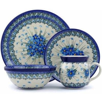 Polish Pottery 10-inch Place Setting | Boleslawiec Stoneware | Polmedia H0728J