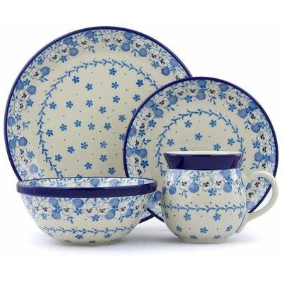 Polish Pottery 10-inch Place Setting | Boleslawiec Stoneware | Polmedia H0730J