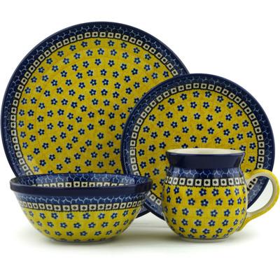 Polish Pottery 10-inch Place Setting | Boleslawiec Stoneware | Polmedia H5997I