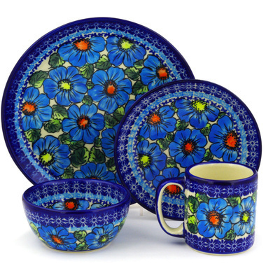 Polish Pottery 10-inch Place Setting | Boleslawiec Stoneware | Polmedia H5884F