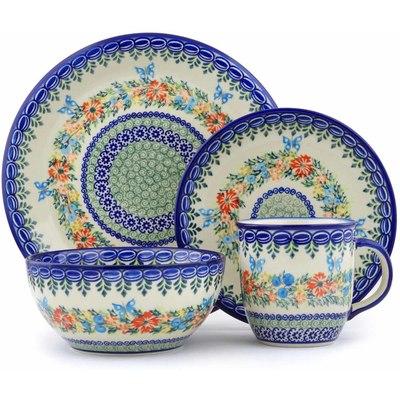 Polish Pottery 10-inch Place Setting | Boleslawiec Stoneware | Polmedia H1432J