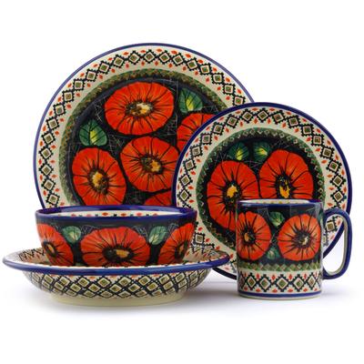 Polish Pottery 10-inch Place Setting | Boleslawiec Stoneware | Polmedia H2550E
