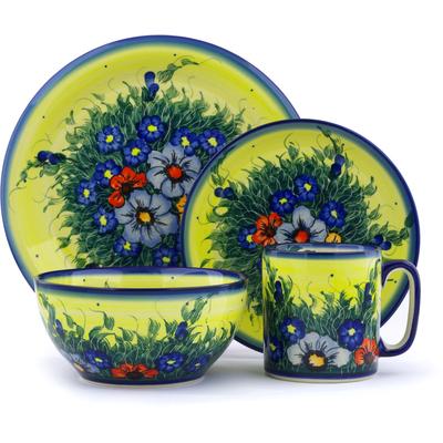 Polish Pottery 10-inch Place Setting   Boleslawiec Stoneware   Polmedia H2879J