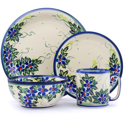 Polish Pottery 10-inch Place Setting | Boleslawiec Stoneware | Polmedia H2880J