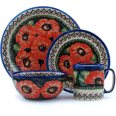 Polish Pottery 10-inch Place Setting | Boleslawiec Stoneware | Polmedia H2561E