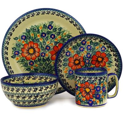 Polish Pottery 10-inch Place Setting   Boleslawiec Stoneware   Polmedia H2566E