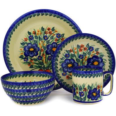 Polish Pottery 10-inch Place Setting | Boleslawiec Stoneware | Polmedia H2567E