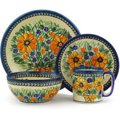 Polish Pottery 10-inch Place Setting | Boleslawiec Stoneware | Polmedia H5521E