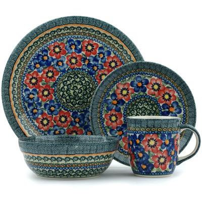 Polish Pottery 11-inch Place Setting | Boleslawiec Stoneware | Polmedia H9355H