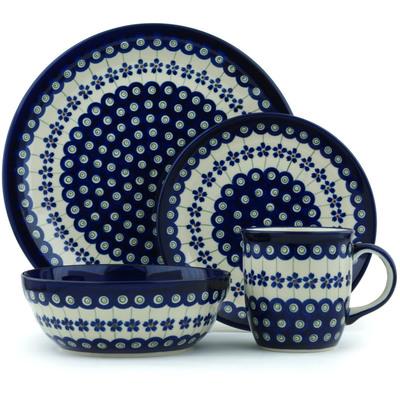 Polish Pottery 11-inch Place Setting | Boleslawiec Stoneware | Polmedia H2774F