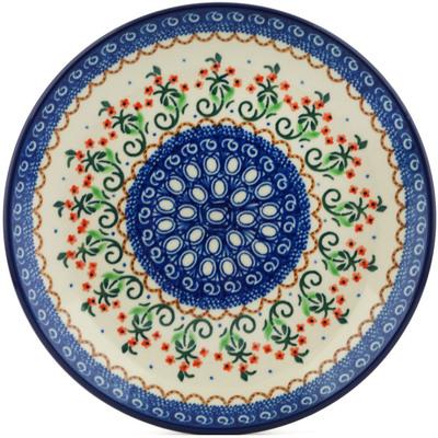 Polish Pottery 8-inch Plate | Boleslawiec Stoneware | Polmedia H1004I