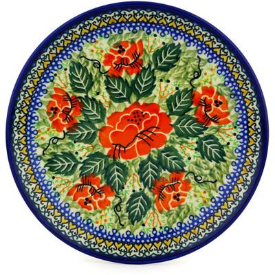 Polish Pottery 8-inch Plate | Boleslawiec Stoneware | Polmedia H8902C