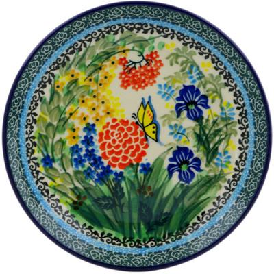 Polish Pottery 8-inch Plate | Boleslawiec Stoneware | Polmedia H8514F