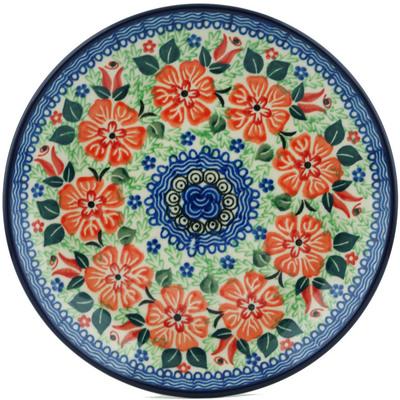 Polish Pottery 8-inch Plate | Boleslawiec Stoneware | Polmedia H1090I
