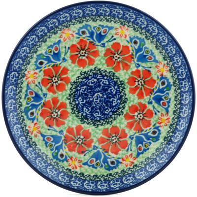 Polish Pottery 8-inch Plate | Boleslawiec Stoneware | Polmedia H1112I