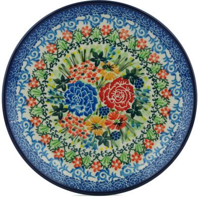 Polish Pottery 8-inch Plate | Boleslawiec Stoneware | Polmedia H1172I