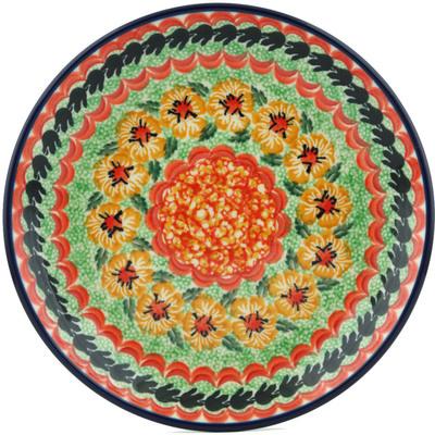 Polish Pottery 8-inch Plate | Boleslawiec Stoneware | Polmedia H1181I