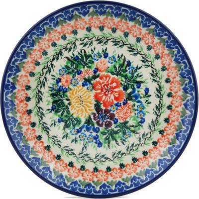 Polish Pottery 8-inch Plate | Boleslawiec Stoneware | Polmedia H1189I