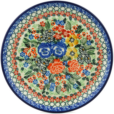Polish Pottery 8-inch Plate | Boleslawiec Stoneware | Polmedia H2168H