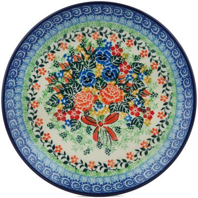 Polish Pottery 8-inch Plate   Boleslawiec Stoneware   Polmedia H1287I