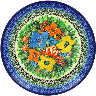 Polish Pottery 8-inch Plate   Boleslawiec Stoneware   Polmedia H1642E