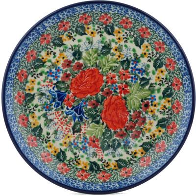 Polish Pottery 8-inch Plate | Boleslawiec Stoneware | Polmedia H1349I