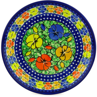 Polish Pottery 8-inch Plate | Boleslawiec Stoneware | Polmedia H1618B