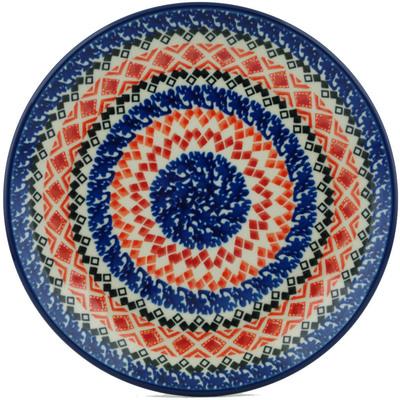 Polish Pottery 8-inch Plate | Boleslawiec Stoneware | Polmedia H1439I