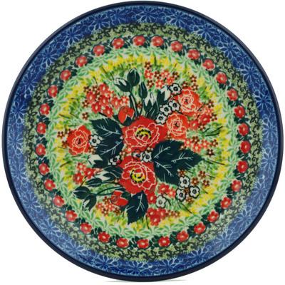 Polish Pottery 8-inch Plate | Boleslawiec Stoneware | Polmedia H1472I