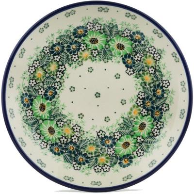 Polish Pottery 8-inch Plate   Boleslawiec Stoneware   Polmedia H0229I