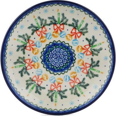 Polish Pottery 8-inch Plate | Boleslawiec Stoneware | Polmedia H1634I