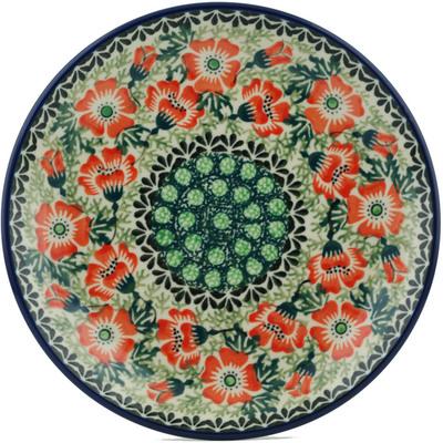 Polish Pottery 8-inch Plate | Boleslawiec Stoneware | Polmedia H1648I