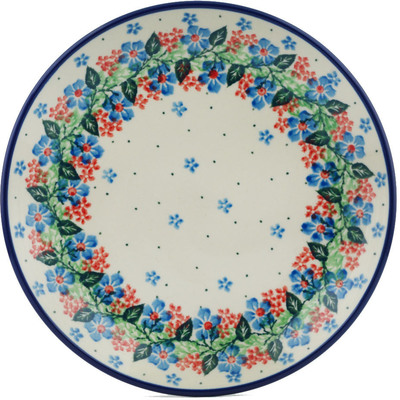 Polish Pottery 8-inch Plate | Boleslawiec Stoneware | Polmedia H1786I