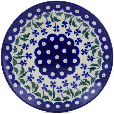 Polish Pottery 8-inch Plate | Boleslawiec Stoneware | Polmedia H0733J
