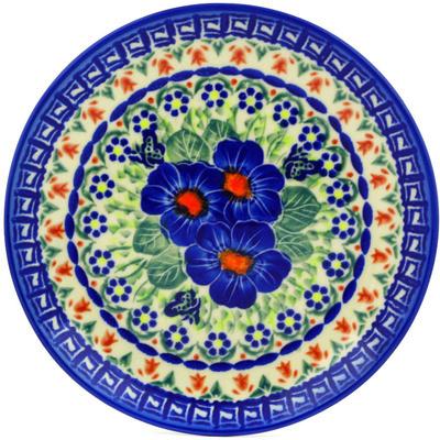 Polish Pottery 7-inch Plate   Boleslawiec Stoneware   Polmedia H7126E