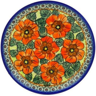 Polish Pottery 7-inch Plate   Boleslawiec Stoneware   Polmedia H7134E