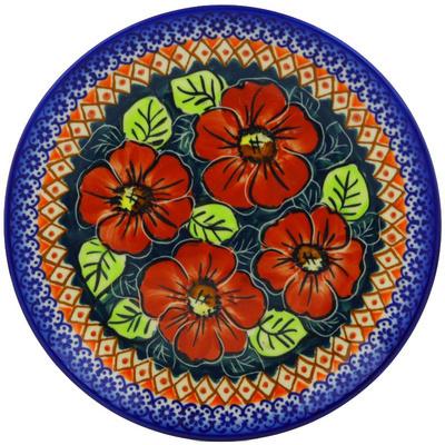 Polish Pottery 7-inch Plate   Boleslawiec Stoneware   Polmedia H4934F