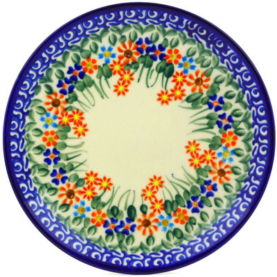 Polish Pottery 7-inch Plate | Boleslawiec Stoneware | Polmedia H2303G
