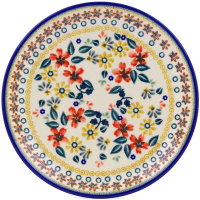 Polish Pottery 7-inch Plate   Boleslawiec Stoneware   Polmedia H2260J