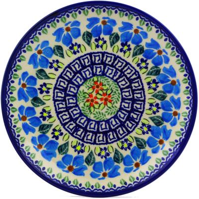 Polish Pottery 7-inch Plate   Boleslawiec Stoneware   Polmedia H0189J