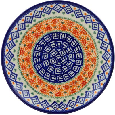 Polish Pottery 7-inch Plate   Boleslawiec Stoneware   Polmedia H7120E