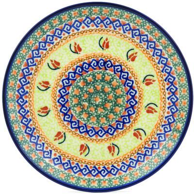 Polish Pottery 7-inch Plate   Boleslawiec Stoneware   Polmedia H3844H