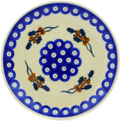 Polish Pottery 7-inch Plate | Boleslawiec Stoneware | Polmedia H7136E