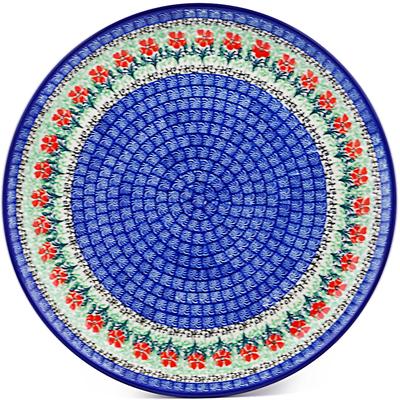 Polish Pottery 12-inch Plate | Boleslawiec Stoneware | Polmedia H0081J