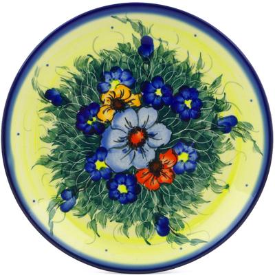 Polish Pottery 7-inch Plate   Boleslawiec Stoneware   Polmedia H1443J