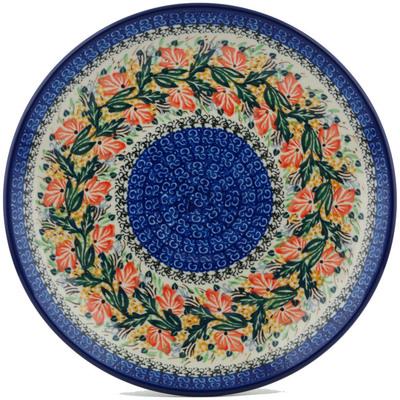 Polish Pottery 10-inch Plate | Boleslawiec Stoneware | Polmedia H1083I