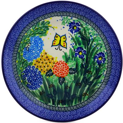 Polish Pottery 10-inch Plate   Boleslawiec Stoneware   Polmedia H1419C