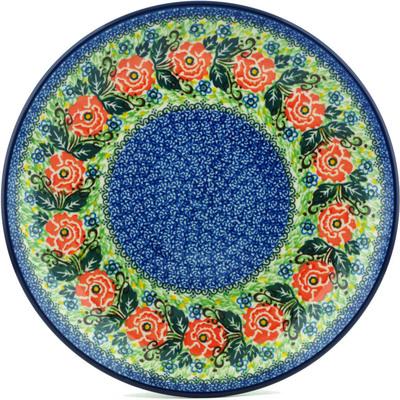 Polish Pottery 10-inch Plate | Boleslawiec Stoneware | Polmedia H1123I